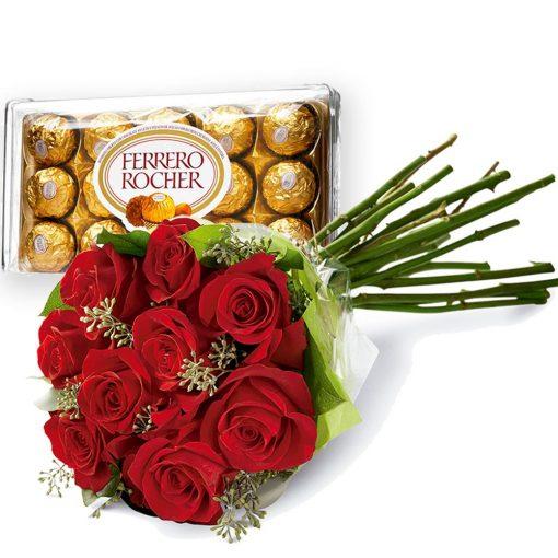 Bouquet de Flores com Chocolates