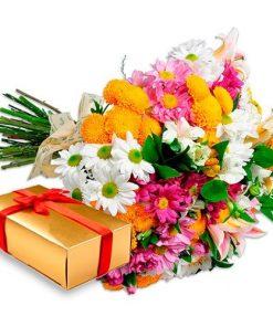 Bouquet Garden Flores com Bombons