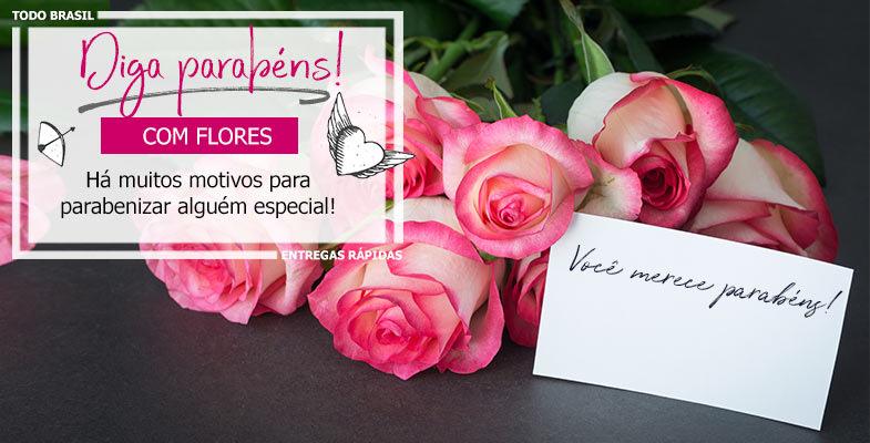 flores de parabéns