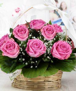 Cesta Luxo Encanto em Rosa